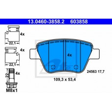 Fren Balata Arka Bosch Sistem Caddy 11-15 Jetta 11/09-10