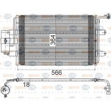 KLİMA RADYATÖRÜ 540X360X20 GOLF4 BORA A3 OCTAVİA (A4) TOLEDO LEON 99-05