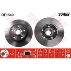 Fren diski Arka Takım 226x10mm 5/100 5 Bijon 2,0Gti 2,8 Golf3 Passat 88-96